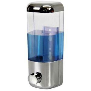Dispenser Sapone Liquido parete Contenitore Casa Negozio Bagno 500ml Cromo