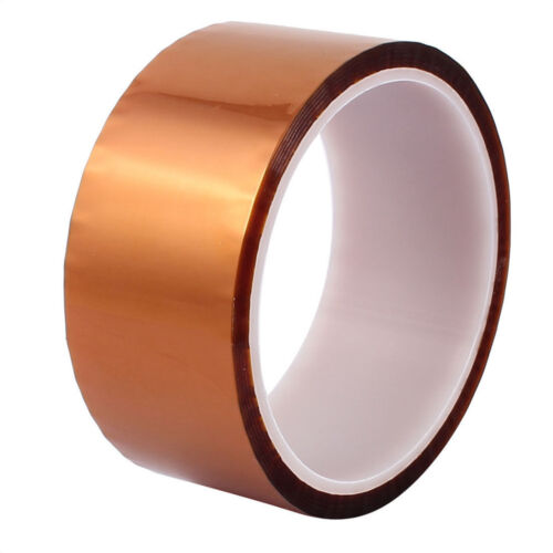 5//10//20//30//50mm X100ft High Temperature Heat Resistant Polyimide Tape ASS