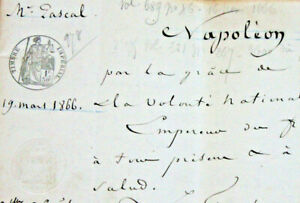 1866-72p-Notary-Napoleon-Imperial-official-MANUSCRIPT-Justice-Trail-document-WOV