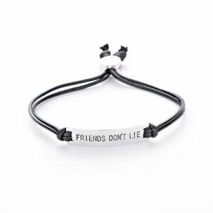 Friend-Dont-Lie-Bracelet-Charm-For-Woomen-Men-Handstamped-Letter-Bangle-Chain