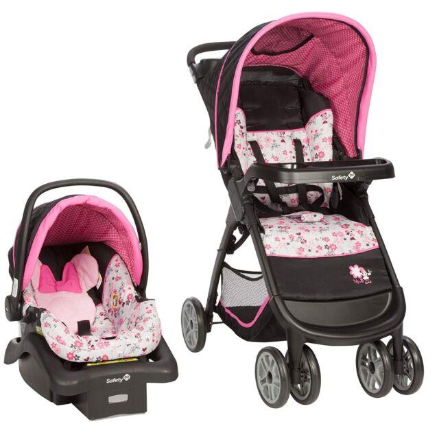 Baby Girl Stroller with Car Seat & Base Combo Set Disney 2 ...