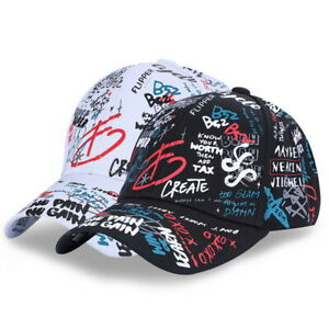 0d6c446d79531c Image is loading Summer-Unisex-Printed-Hat-Outdoor-Sport-Baseball-Cap-