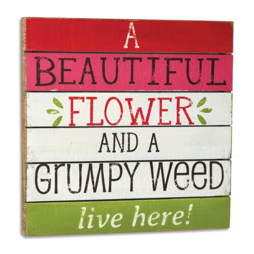 DEMDACO Beautiful Flower Grumpy Weed Wall Art