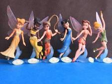 6 Disney Fairies Tinker Bell Tinkerbell Peter Pan & Friends Action Figures D74