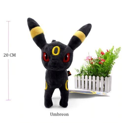 Standing Shiny Umbreon Animal Stuffed Plush Quality Cartoon Toy 23 cm