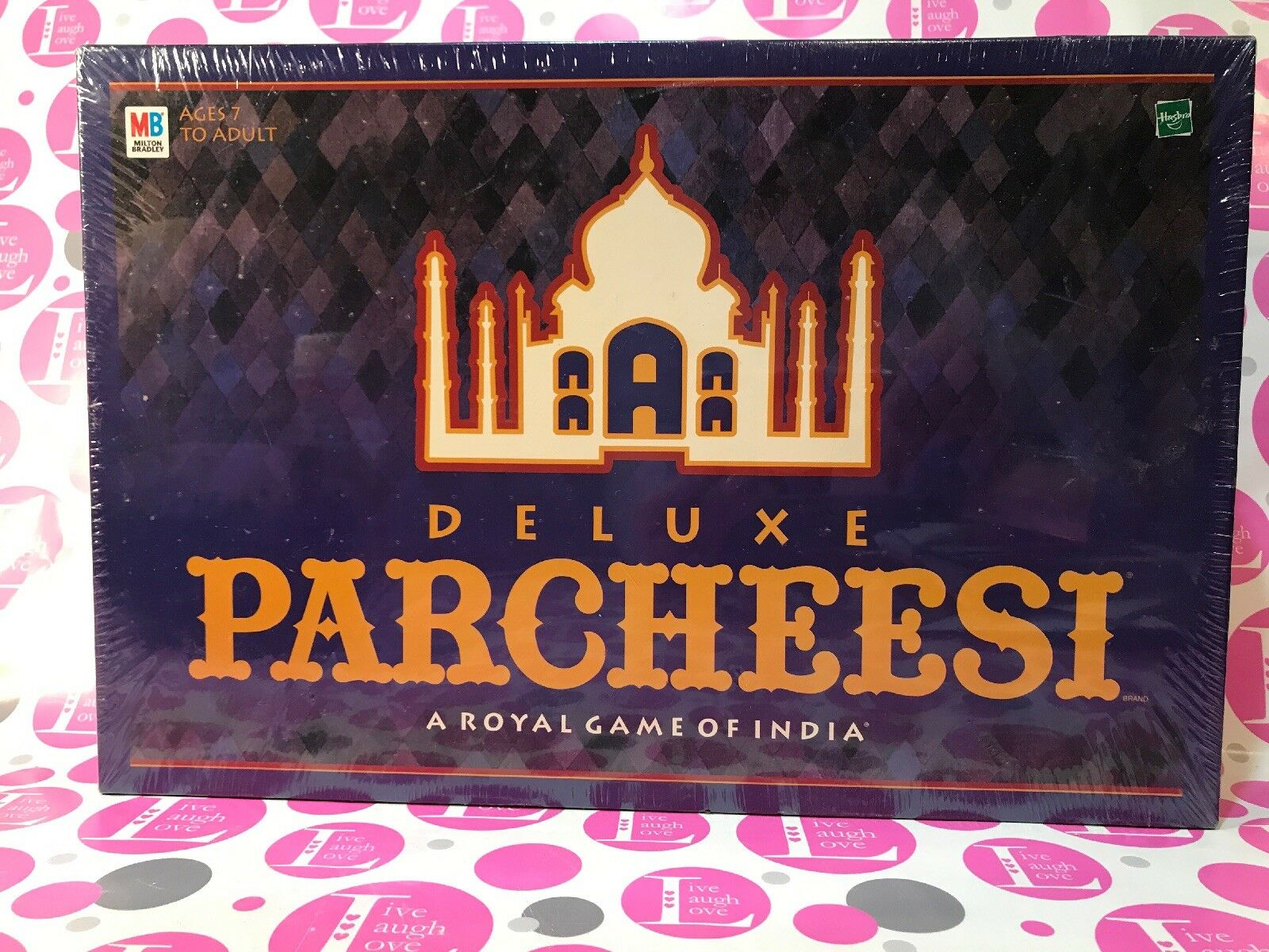 Deluxe Parcheesi Vtg NEW Board Game Royal India Wooden Pawns SEALED 1999 MB 90s