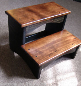 Image Is Loading Handcrafted Heavy Duty Step Stool Wood Bedside Bedroom