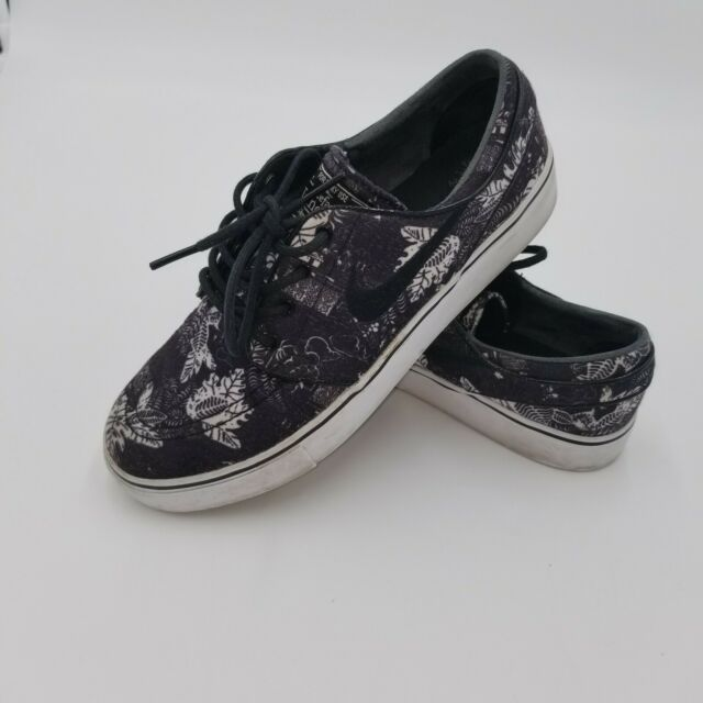 big discount free shipping differently NIKE SB Zoom Air Stefan Janoski Canvas Floral Black & White Shoe US MENS  Size 6