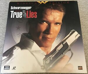 TRUE LIES widescreen LASERDISC Schwarzenegger/Jamie Lee Curtis ARNOLD LIES 2WIFE