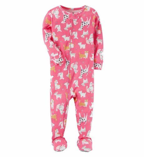 Carter/'s Girls Pink Dalmatian size 4T Corgi Poodle Cotton Pajama Sleeper