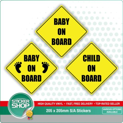 Baby Baby On Board Child Safety Sticker Car Vehicle Signs Child On Board Kisetsu System Co Jp