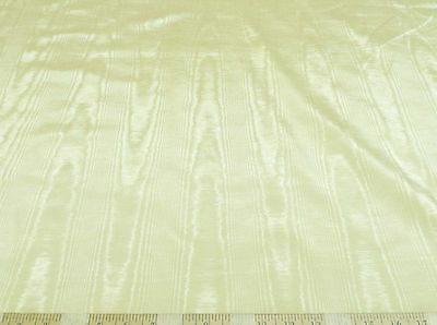 Discount Fabric Moire` Bengaline Faille Light Yellow MR163