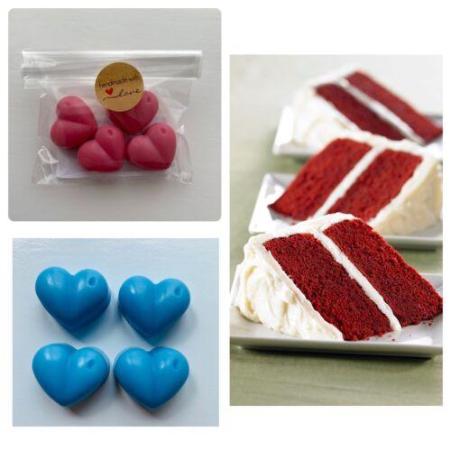 Soja wax melts-Red Velvet Cake 4 coeurs-Cadeau-Mariage Faveur
