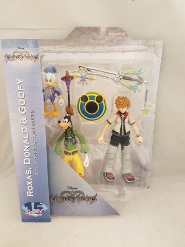 Disney Kingdom Hearts Diamond Select Donald Goofy Roxas 3 figure set new