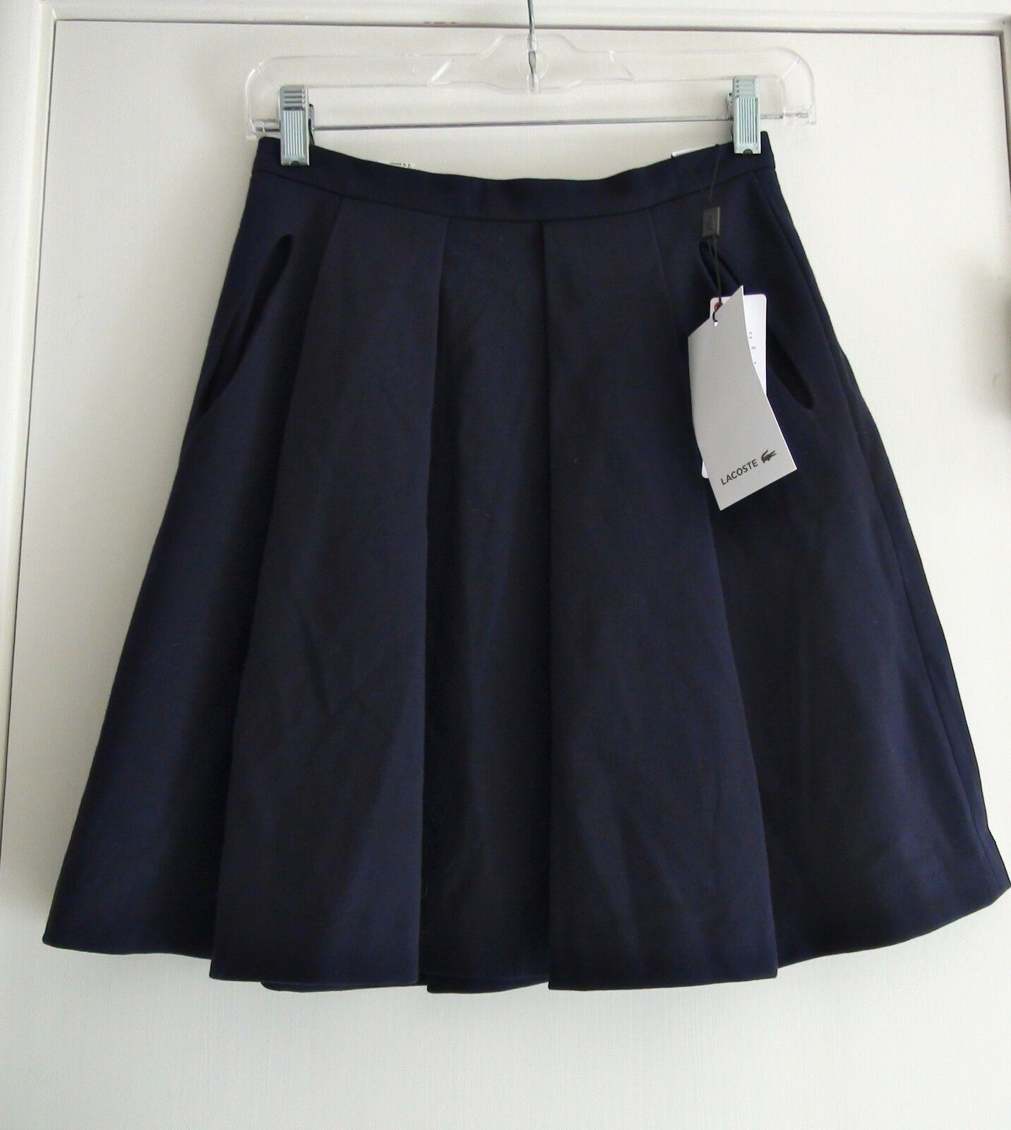 Lacoste Eclipse Fashion Navy bluee Pleated Skirt JF5543 Sz US 8  165 NWT