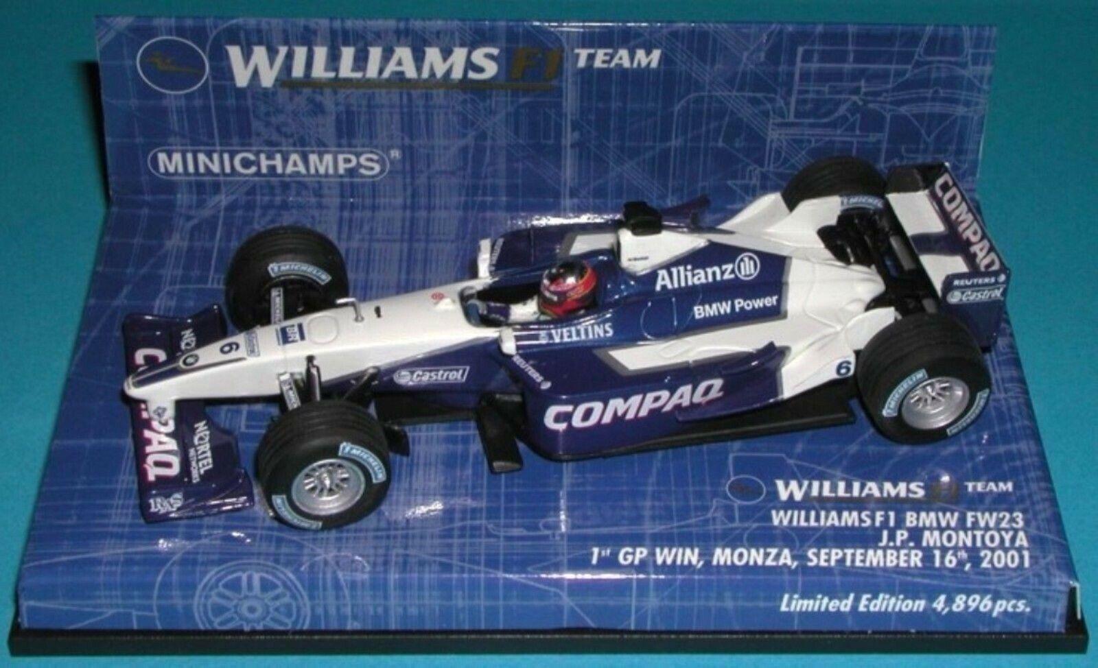 Wow Wow Wow extrêmement rare Williams FW23 Montoya Winner Monza 2001 1 43 Minichamps 4fcc12