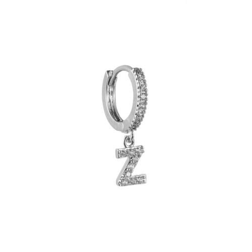 Gold Color Round Hoop Initial Pendant Earrings 26 Alphabet Letters Dangle Drop