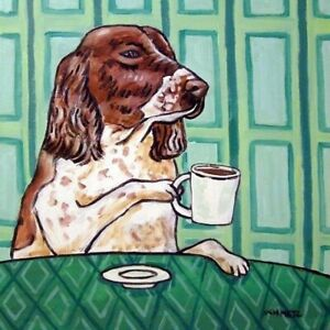 english-springer-spaniel-coffee-dog-art-tile-coaster