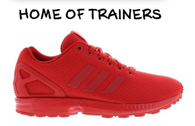 exklusiv adidas Zx Flux Torsion Dreifach Rot Herren Trainer alle Größen