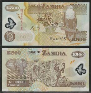 ZAMBIA-500-Kwacha-2004-Pick-43c-UNC-Polymer