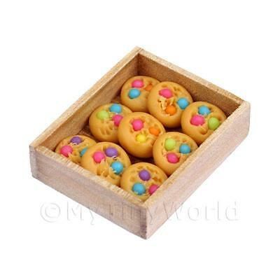 Miniature  Baked Cookies In a Wooden Bakers Tray