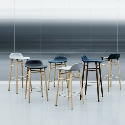Magnificent Normann Copenhagen Form Bar Stool Scandi Barstool Oak Legs Various Colours Ebay Bralicious Painted Fabric Chair Ideas Braliciousco
