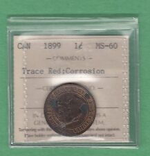 1899 Canada One Cent Coin - MS-60 - ICCS Graded