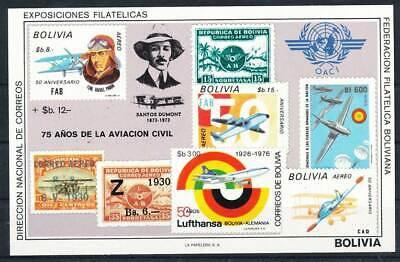 Bolivien Block 82** Geschichte Der Luftfahrt Flugzeuge GroßE Sorten Verkehr & Transport 272554