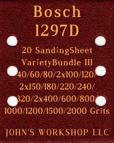 Bosch 1297D 20 Sheet Variety Bundle III 17 Different Grits
