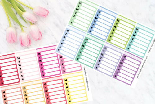 Erin Condren Weekly Sidebar Functional Planner Stickers Cool /& Warm Colours