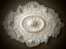 """32"""" Victorian Queen Ann Reproduction Classical Plaster Ceiling Medallion"""