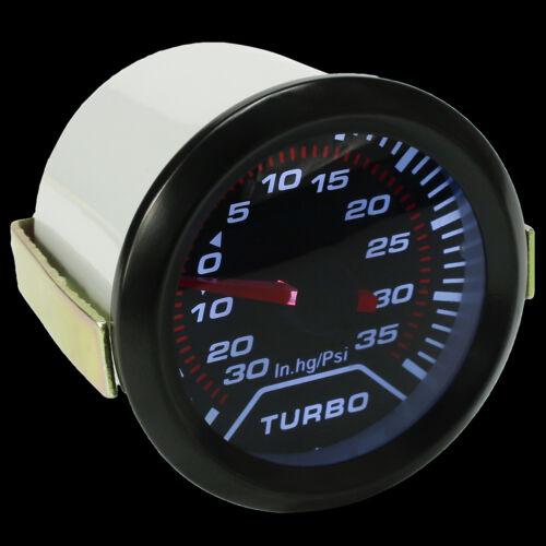 Universal 52mm 2/'/' Digital LED Boost Turbo Meter Gauge Smoke Tint Lens Psi