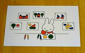 039-WITH-LOVE-FROM-MIFFY-039-POSTCARD-MIFFY-DOES-SOME-DRAWINGS-DICK-BRUNA