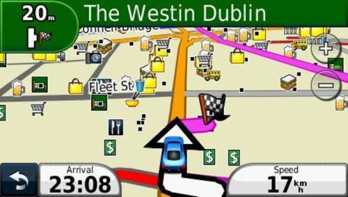 2019 UK and Ireland car navigation map set for Garmin GPS on MicroSD card