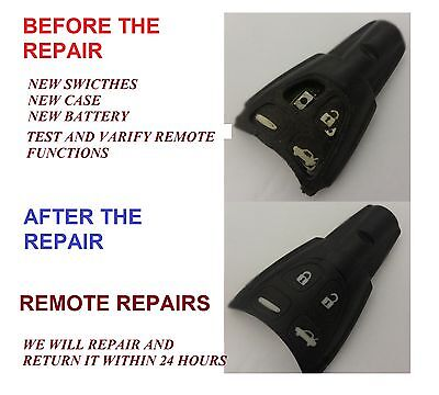 Recondition Fix Service for Saab 9-3 9-5 4 Button Remote Smart Key Fob Renovate