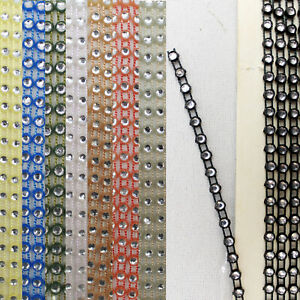 Confezione da 10 METRI piccoli RHINEST una fabbrica Pizzo Abiti da Sposa Abito taglio nastro Craft