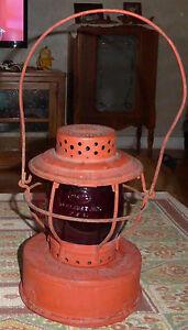 Vintage Red Hanlan Lantern