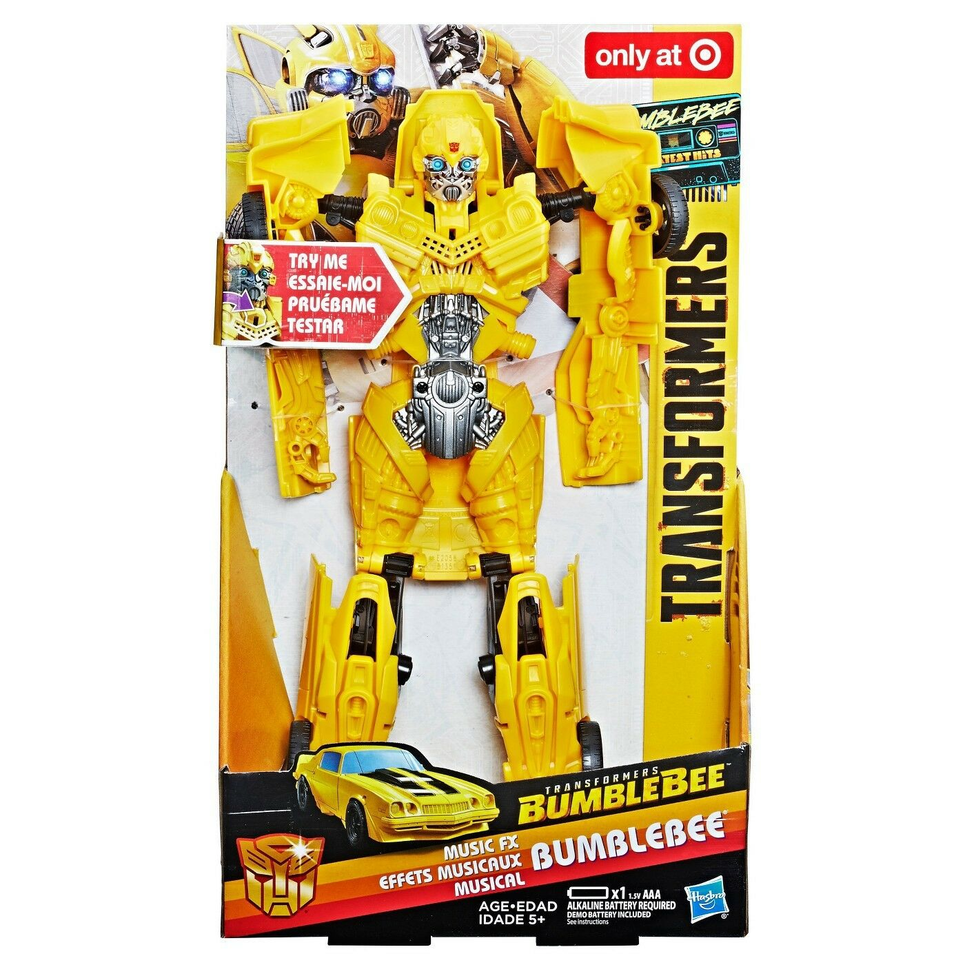 Transformers Bumblebee Greatest Hits Music FX Bumblebee Exclusive Action Figure