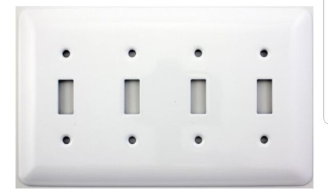 Mulberry Princess Style White Four Gang Toggle Switch Wall Plate For Sale Online Ebay