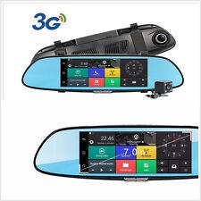 7'' GPS car video recorder Bluetooth WIFI 1080P 2-Lens rearview mirror Dash cam