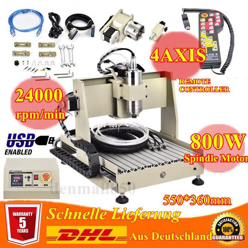 USB  Fraiseuse 3040 800W 4Achse Graveur À faire fraiseuse 3D CNC Router Engraver