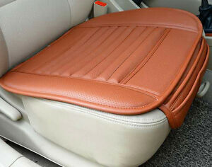 universal pu leather rust orange bamboo charcoal car office chair seat cover pad ebay. Black Bedroom Furniture Sets. Home Design Ideas