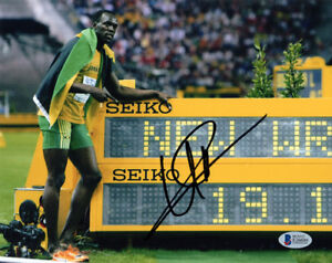 USAIN-BOLT-SIGNED-AUTOGRAPHED-8x10-PHOTO-OLYMPIC-TRACK-GOLD-MEDALIST-BECKETT-BAS