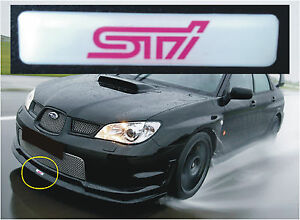 SUBARU IMPREZA STI VLTD FRONT LIP SPLITTER BADGE WHITE AND PINK STI LOGO - <span itemprop=availableAtOrFrom>sheffield, South Yorkshire, United Kingdom</span> - Returns accepted Most purchases from business sellers are protected by the Consumer Contract Regulations 2013 which give you the right to cancel the purchase within 14  - sheffield, South Yorkshire, United Kingdom