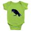 Infant-Baby-Rib-Bodysuit-Jumpsuit-Romper-Clothes-Beautiful-Black-Crow-Raven-Bird thumbnail 7
