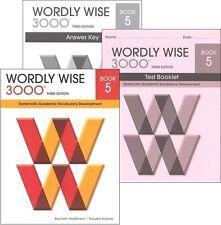Wordly Wise 3000 Grades 4,5,6,7,8,9,10,11,12 sets Student, KEYS, tests.