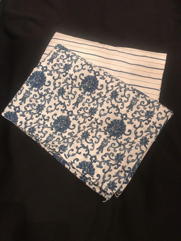 Ralph Lauren Porcelain pinktte & Jonquil bluee White Twin Flat & Fitted Sheets
