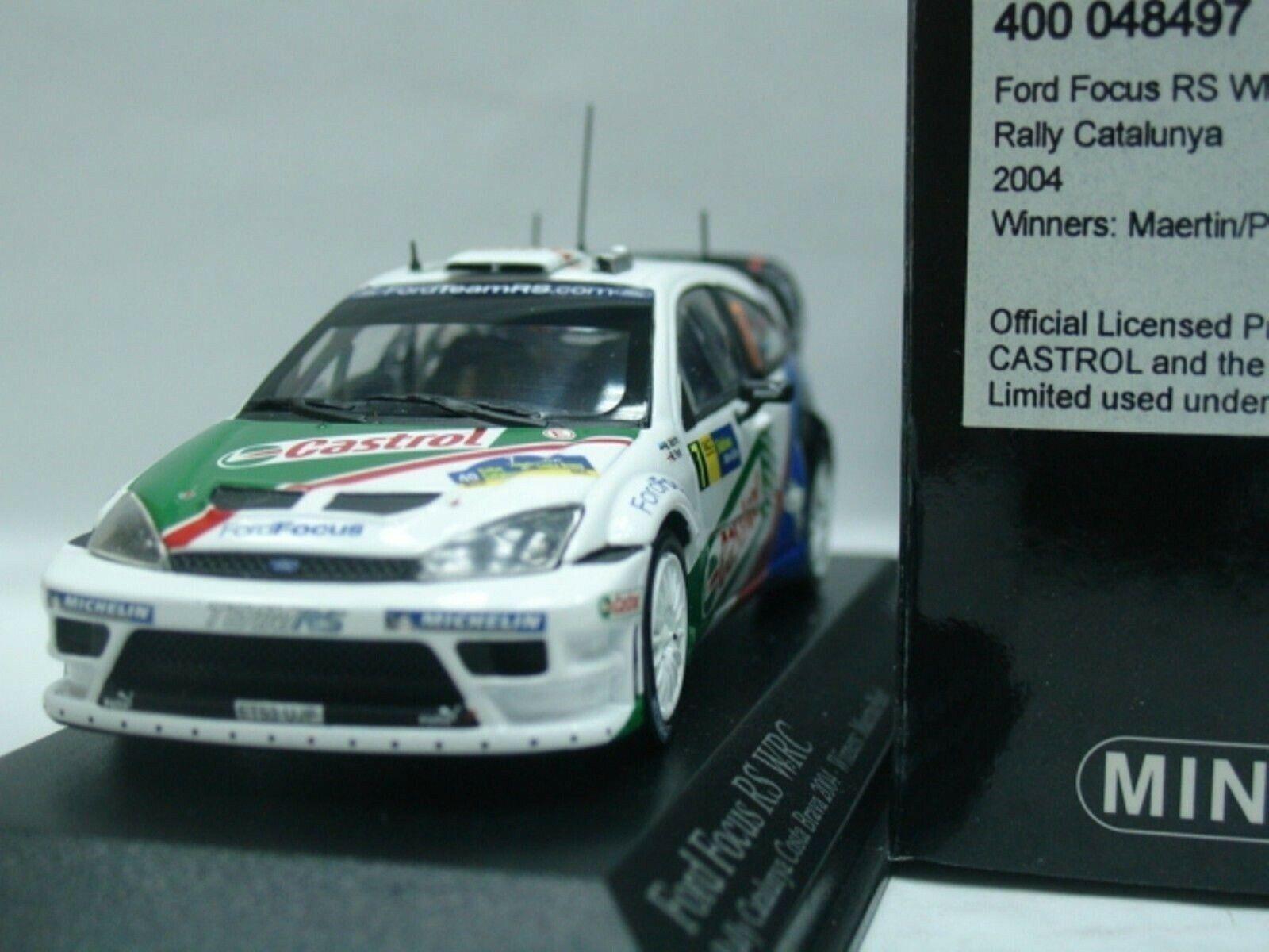 WOW EXTREMELY RARE Ford Focus RS WRC 2004 Martin Winner España 1 43 Minichamps