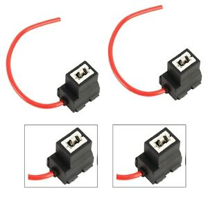 Wire Halogen H3 Two Harness Fog Light Ceramic Socket Female Male Connector Lamp