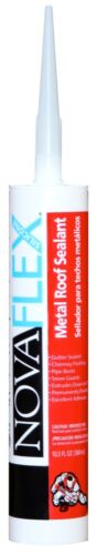 Free Shipping 12 Tube Pack NOVAFLEX Bright Red Metal Panel Caulk